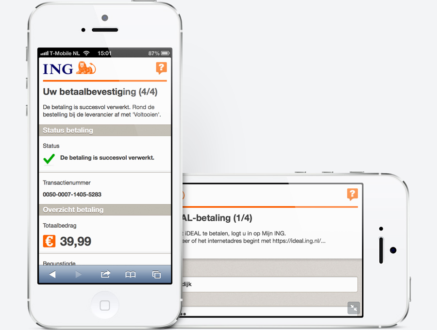 Screenshots of ING Mobile iDeal